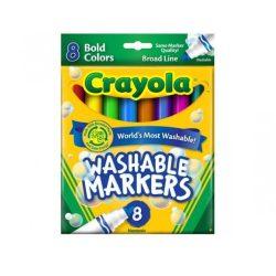 Irószerek - Íróeszközök - Filctoll - Vastag lemosható 8db - Crayola