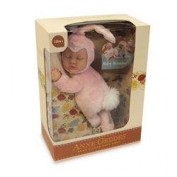 Újszülött játékbabák - Karakterbabák - Anne Geddes puhatestű babafigura rózsaszín nyuszi szettben 23