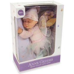 Újszülött játékbabák - Karakterbabák - Anne Geddes puhatestű babafigura tündér szettben, 23 cm