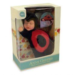 Újszülött játékbabák - Anne Geddes puhatestű babafigura katica szettben 23cm