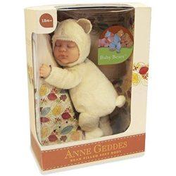 Újszülött játékbabák - Karakterbabák - Anne Geddes puhatestű babafigura sárga maci szettben 23cm