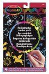 Rajzkészség fejlesztő játékok - Hologramos képkészítő karcoló játék sablonokkal, Melissa & Doug