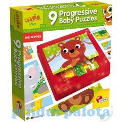 Puzzle - Carotina baby állatkölykös progresszív puzzle