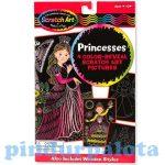 Rajzkészség fejlesztő játékok - Melissa & Doug Kreatív játék Képkarc hercegnők