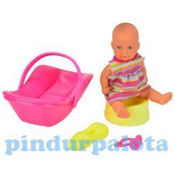 Játékbabák - Műanyag-babák - Mini újszülött szett autósüléssel Simba