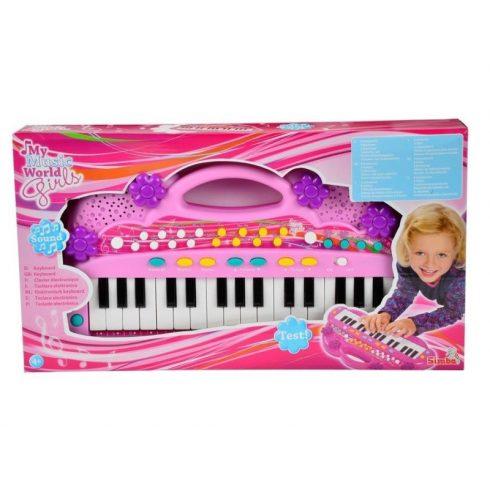 Játék hangszerek gyerekeknek - Szintetizátor kislányoknak 39 cm Keyboard Simba