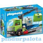 Playmobil játékok - Üveghulladékszállító teherautó konténerekkel 6109