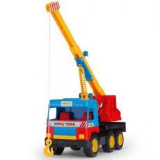 Járművek - Játékautók - Darus-kocsi middle truck 37cm Wader