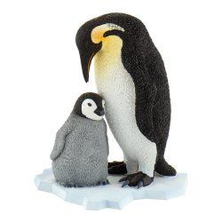 Állat figurák - Háziállatok - Vadállatok - Királypingvin fiókával figura Bullyland