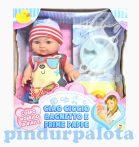 Játékbabák - Műanyag babák - Játékbaba nyári ruhában kiegészítőkkel, fiú