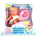 Műanyag babák - Játékbaba nyári ruhában kiegészítőkkel lány