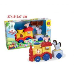 Fejlesztő játékok - Bébi vonat világítós forgós