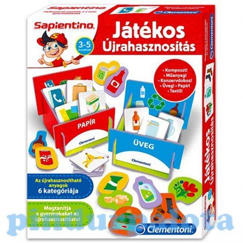 Társasjáték - Oktató - Fejlesztő - Logika és koncentráció fejlesztés - Játékos újrahasznosítás