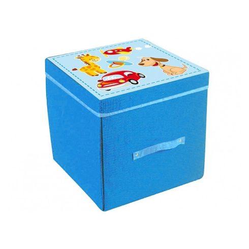Baba játék vásárlás - Játszószőnyeg játéktároló doboz 2 az 1-ben fiús