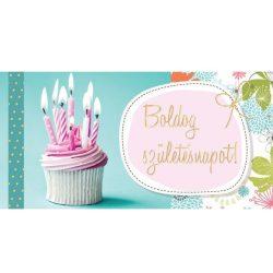 Írószerek-iskolaszerek - Borítékos képeslap, boldog születésnapot