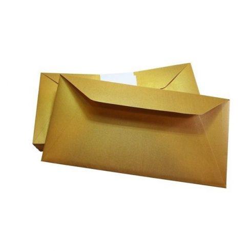 Írószerek-iskolaszerek - Papírok kartonok - Boríték névjegykártya tartó enyvezett arany
