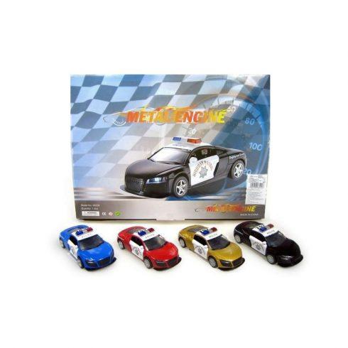 Játék autók - Játék autó - Szirénázó rendőrautó Audi R8