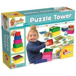 Gyerek Puzzle - Carotina kockatorony puzzle-lel