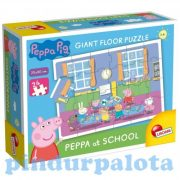 Gyerek Puzzle - Kirakósok - Peppa az iskolában parkettpuzzle Lisciani