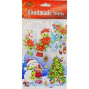 Matricák - Karácsonyi csillámos matrica csomag