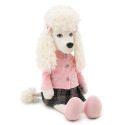 Plüss kutyák - Orange Toys - Julie the Poodle plüsskutya, rózsaszín felsőben, szoknyával
