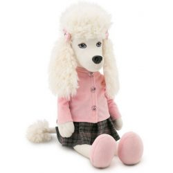 Plüss kutyák - Julie the Poodle plüsskutya rózsaszín felsőben, szoknyával, Orange Toys, nagy