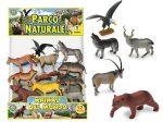 Állat figurák - Vadállatok - Vadállat szett, 12 db, műanyag figura