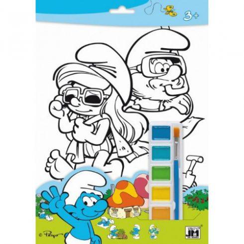 Kreatív hobby készletek a gyermeki kreativitás kibontakozásához - Hupikék Törpikék A4-es szett