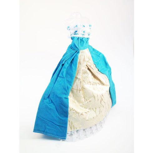 Baba kellék játék babára türkiz ruha 28,75cm