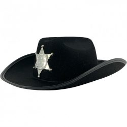 Jelmezek - Jelmez kiegészítők - Seriff csillagos kalap több színben