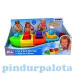 Fejlesztő játékok - Bébi játékok - Tomy felhúzható építőhajó