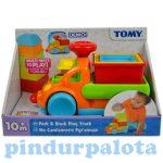 Fejlesztő játékok - Bébi játékok - Tomy csészerakosgató kisautó