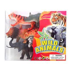 Állat figurák - Vadállatok műanyag figurák 6db