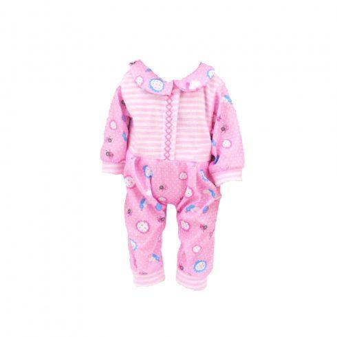 Játékbaba kiegészítők -  Rózsaszín játék babaruha