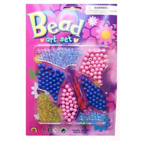 Fűzős játékok gyerekeknek - Gyöngyök - Gyöngy készítő szett
