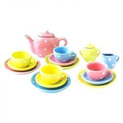 Szerepjátékok - Porcelán teás készlet pöttyökkel