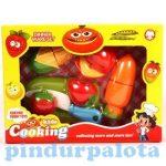 Játék konyhák - Játék élelmiszerek - Váhgató szeletelhető játék műanyag ételek gyerekeknek