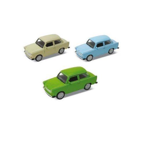 Fém játékautó Trabant 1:43 Welly Nex Modells doboz nélkül