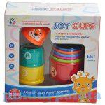 Fejlesztő játékok - Készségfejlesztő rakosgató poharak babáknak