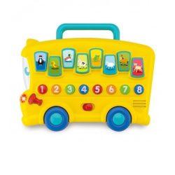 Zenélő bébijátékok - Ajándékok babáknak - Zenélő busz állathangokkal, fénnyel