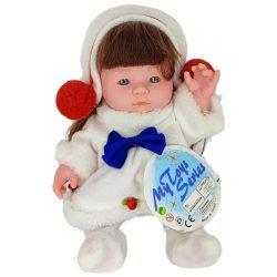 Műanyag babák - Játékbaba téli ruhában - funkciós