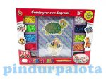 Fűzős játékok gyerekeknek - Gyöngyök - Gyöngy szett állatos