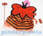 Jelmez - Méhecske szett szoknyával piros