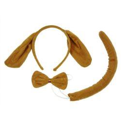 Jelmezek - Jelmez kiegészítők - Kutya szett 3 részes, barna színben