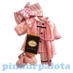 Játék kellékek babázáshoz - Játékbaba ruha pizsama köntössel Santoro Gorjuss