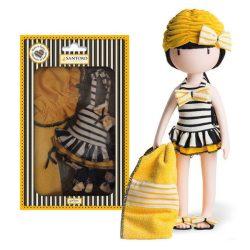 Játék Babakocsik, fürdető-, etetető kellékek babázáshoz - Játékbaba strand szett Santoro Gorjuss