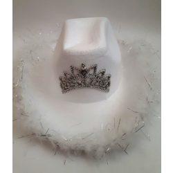Jelmezek - Jelmez kiegészítők - Cowgirl kalap fehér