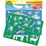 Rajzolást segítő eszközök gyerekeknek - Rajz sablon tengeri állatos és afrikai állatos