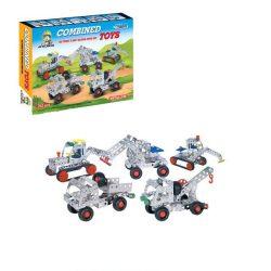 Építőjátékok gyerekeknek - Fából, Fémből, Műanyagból - Fém építő munkagépek (242db)