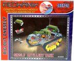 Építőjátékok gyerekeknek - Fából, Fémből, Műanyagból - Fém építő tank (186db)